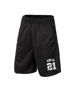 NBA Timothy Duncan Athletic Shorts Basketball Jogger with Pockets
