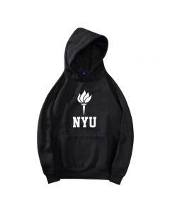 New York University Printed Hoodie Pullover Sweatshirt