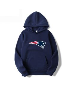 NFL New England Patriots Pullover Cotton Sweatshirt with Pockets