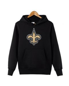 NFL New Orleans Saints Pullover Hoodie Fleece Sweatshirts with Pockets