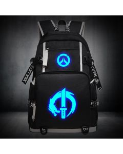 Overwatch Genji Luminous Backpack USB Charger Bag