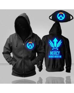Overwatch Mercy Luminous Pullover Hoodie