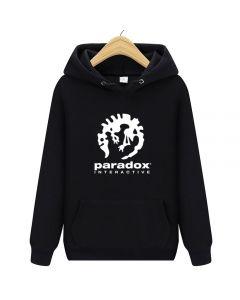 Paradox Interactive Printed Hoodie Fleece Sweatshirt