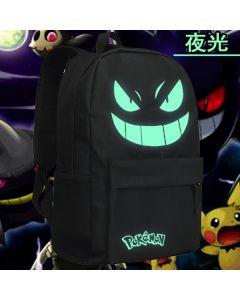 Pokemon Gengar Luminous Backpack Students School Bag