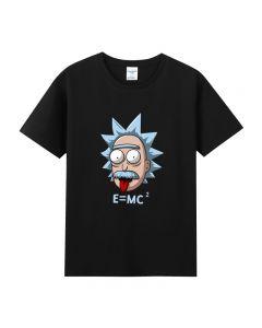 Rick and Morty Black Tee shirts Tee Top