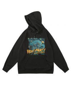 Rick and Morty Van Gogh Starry Night Hoodie Fleece Sweatshirt