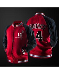 Slam Dunk Shohoku School Rukawa Mitsui Hisashi Number 14 Baseball Jacket