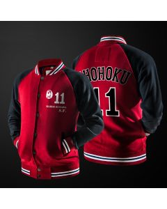 Slam Dunk Shohoku School Rukawa Kaede Number 11 Baseball Jacket