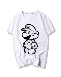 Super Mario Bros T-Shirt White Tee Shirts