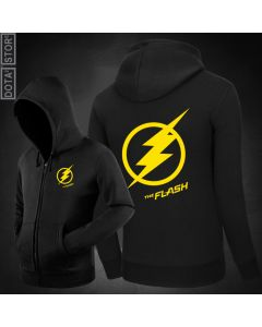 The Flash Man Zipper Pullover Hoodie Sweatshirt
