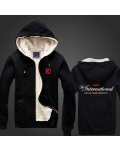 The International Thicken Hoodie Men Zipper Coat