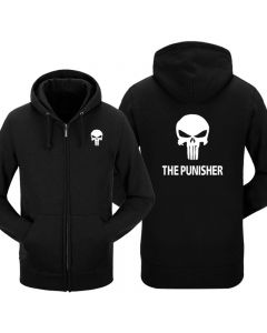 The Punisher Logo Printed Hoodie Sweatshirt