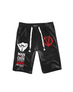 V for Vendetta Casual Shorts Trousers