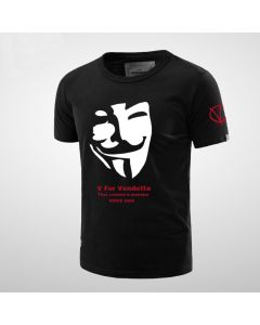 V for Vendetta Mask Printed T-Shirt