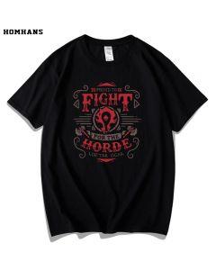 World of Warcraft for the Horde Alliance T-shirt Men Tee Shirt