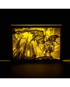 World of Warcraft Paper Carving Lamp