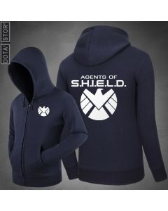 Agents of Shield Zipper Pullover Hoodie