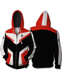Avengers Endgame Quantum Realm Sweatshirt Zipper Jacket Hoodie