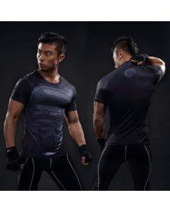 Compression Superman Fitness Men T Shirt