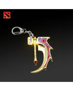 Dota 2 Anti Mage Inscribed Golden Basher Blades Keychain