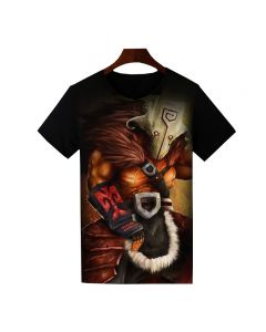 Dota 2 Juggernaut Printed T-Shirt Short Sleeve Shirt