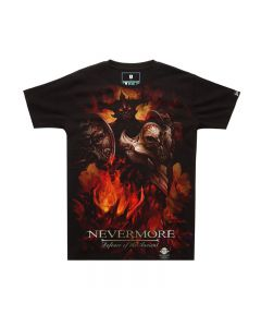 Dota 2 Nevermore Shadow Fiend Printed T-Shirt Tee Top