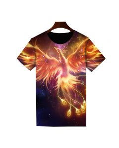 Dota 2 Phoenix Printed T-Shirt Short Sleeve Shirt
