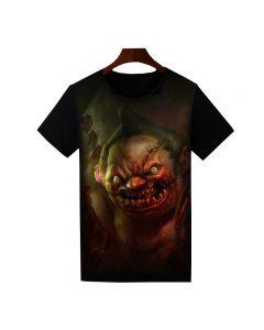 Dota 2 Pudge Printed T-Shirt Short Sleeve Shirt