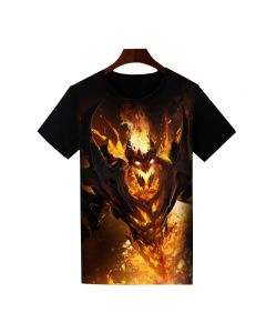 Dota 2 Shadow Fiend Printed T-Shirt Short Sleeve Shirt