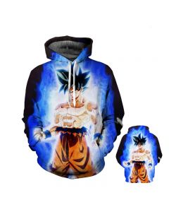 Dragon Ball Z Super Saiyan 3D Printed Hoodie