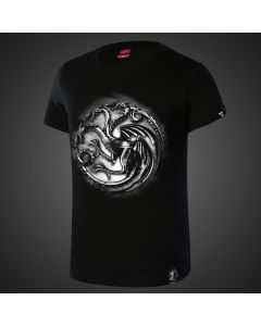 Game of Thrones House Targaryen Black Tee Shirt