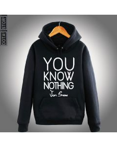 Game of Thrones You Know Nothing Printed Hoodie Sweatshirt
