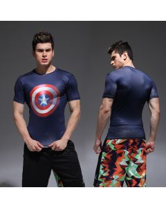 Marvel Captain America Shield Fitness T-Shirt