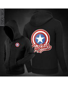 Marvel Captain America Zipper Hoodie Sweatshirt