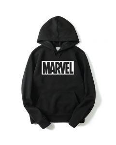 Marvel Letter Printed Pullover Hoodie Sweatshirt