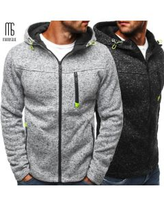 Men Sports Casual Wear Zipper Fashion Tide Jacquard Hoodies