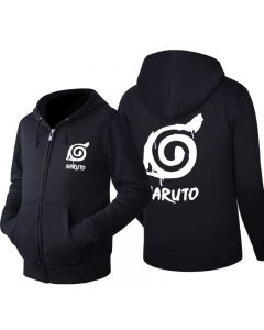 Naruto Logo Zipper Hoodie Sweatshirt