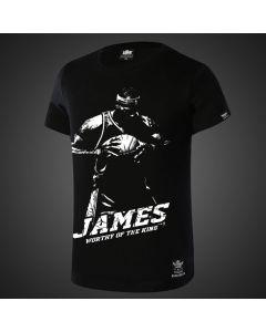 "NBA LeBron James ""worthy of the king"" Tee Shirt"