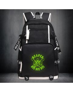 Overwatch Reaper Luminous Backpack USB Charger Bag