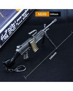 PUBG M249 Machine Gun Action Figure Keychain