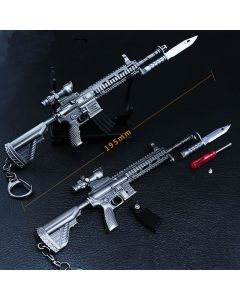 PUBG M416 Assault Rifle Action Figure Keychain