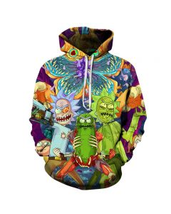 Rick and Morty Pullover Hoodie