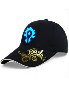 World of Warcraft For The Horde For the Alliance luminous glow at dark Snapback Caps