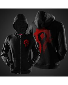 World of Warcraft  The Horde Zipper Hoodie