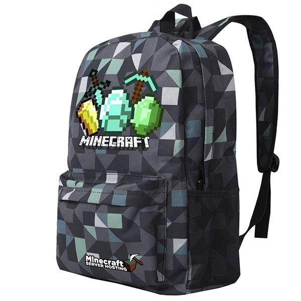 Minecraft Canvas Backpack School Bag Student Bag