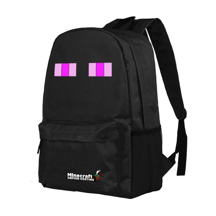 Minecraft Enderman Canvas Backpack School Bag Student Bag