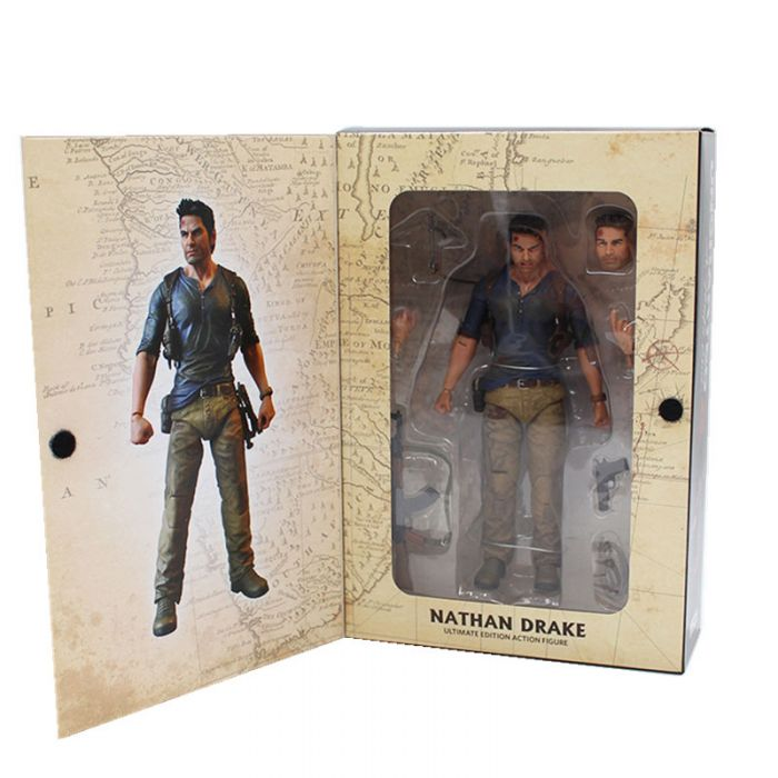 Neca Uncharted 4 A Thief S End Nathan Drake Action Figure Dota 2