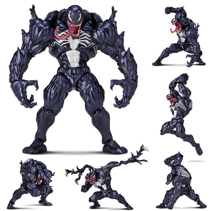 Revoltech Series Venom PVC Action Figure Collectible Model Toy