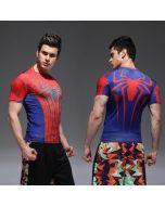 Compression Mens Spiderman Fitness T Shirt