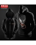 Marvel Venom Zipper Pullover Hoodie Sweatshirt